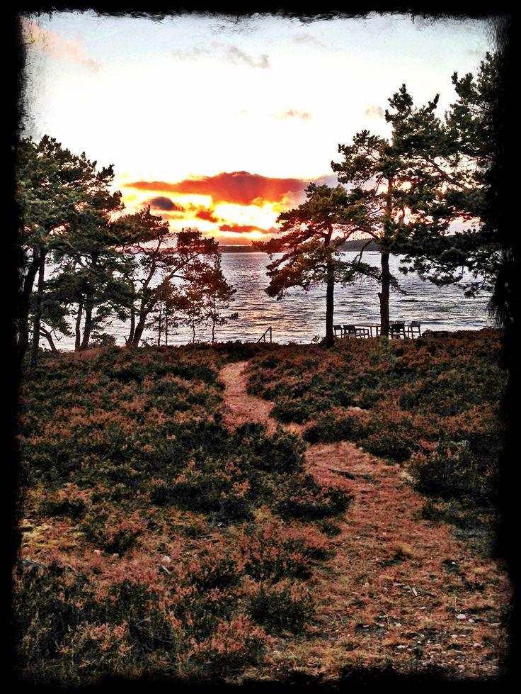 Sunset in the archipelago...