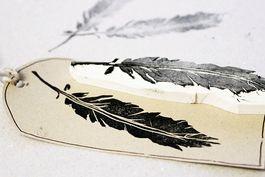 Tutoriel DIY: Fabriquer un tampon en forme de plume via DaWanda.com