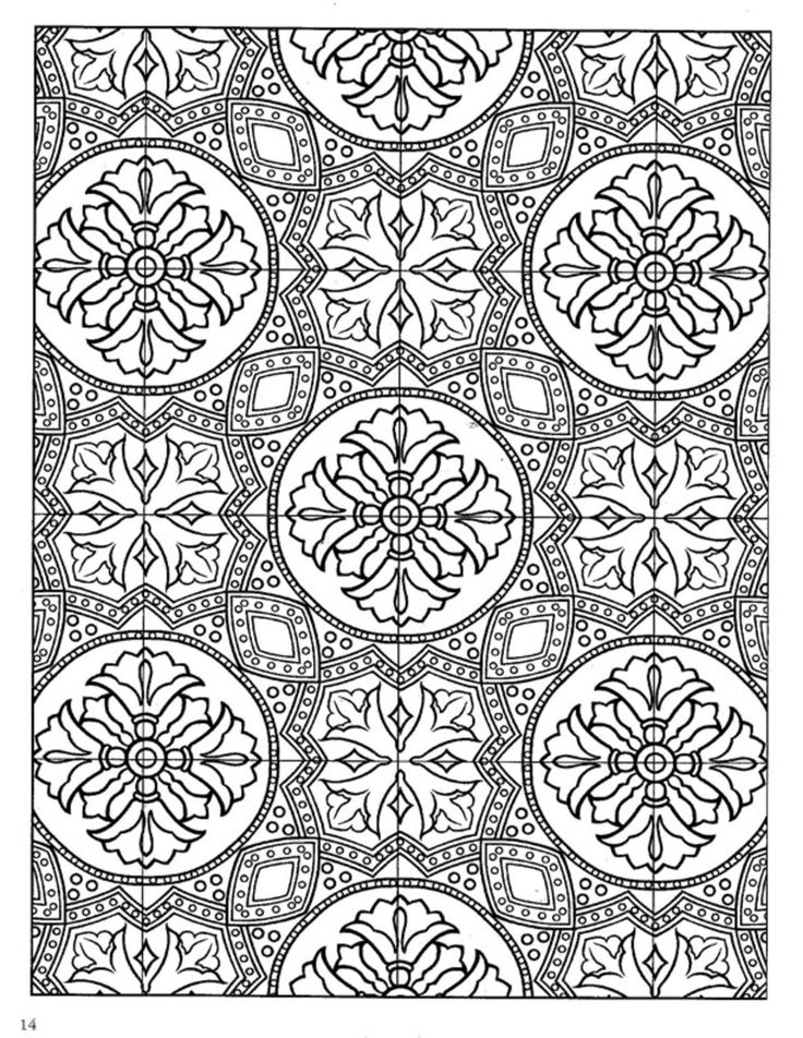 31 best Coloring Pages/LineArt-Designs-Tiles images on ... - photo#20