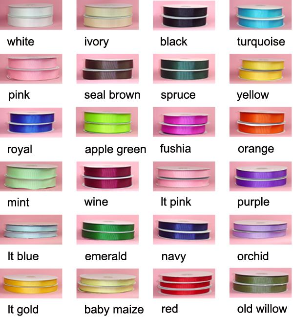 Ribbon on the cheap! 100 yards of satin ribbon, any color, $4.20! Gifts International Inc - Ribbon Wholesale and Retail