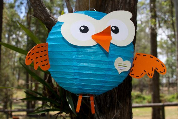 DIY 'Hoot' Paper lantern kit by GOTMEPEGGED on Etsy, $15.00