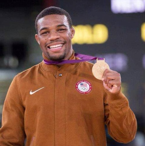 Jordan Burroughs...Olympic Gold Metalist in Wrestling!!! Love it!