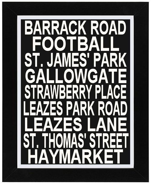Newcastle United! LOVE this! Would be great for the pool table room!