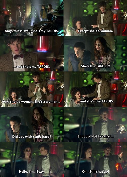 "This is one of my favorite episodes EVER!! I love the TARDIS. ""Did you wish really hard?"" Hahahaha!"