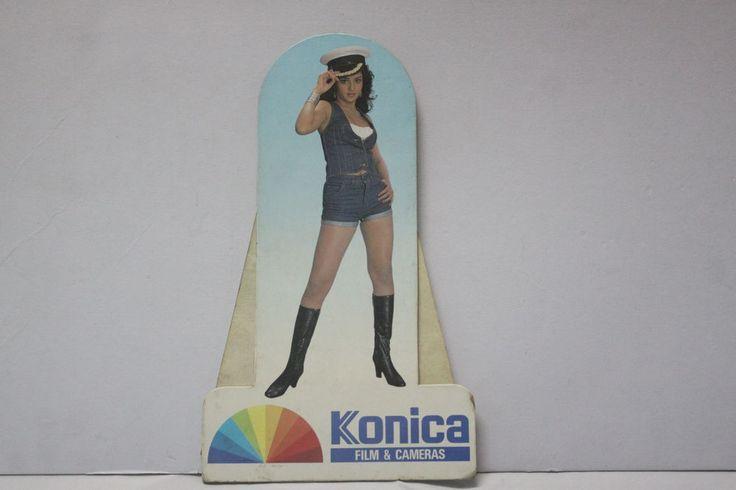 Vintage Konica Indian Model Cardboard Standee Advertisement Sign Store Display #Konica