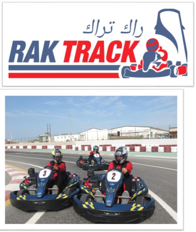 RAK TRACK is a new leisure karting track located in the Emirate of Ras Al-Khaimah in the United Arab Emirates which can be booked for corporate bookings / events.  Aside from our race track hire kart activity, RAK TRACK also has Arrive and Drive sessions which usually last for 15 minutes (at a cost of AED : 115 for adults and AED :80 for kids at the ages between 7 to 12years ). Location: Ras Al Khaimah (Opp. Iceland Water Park)