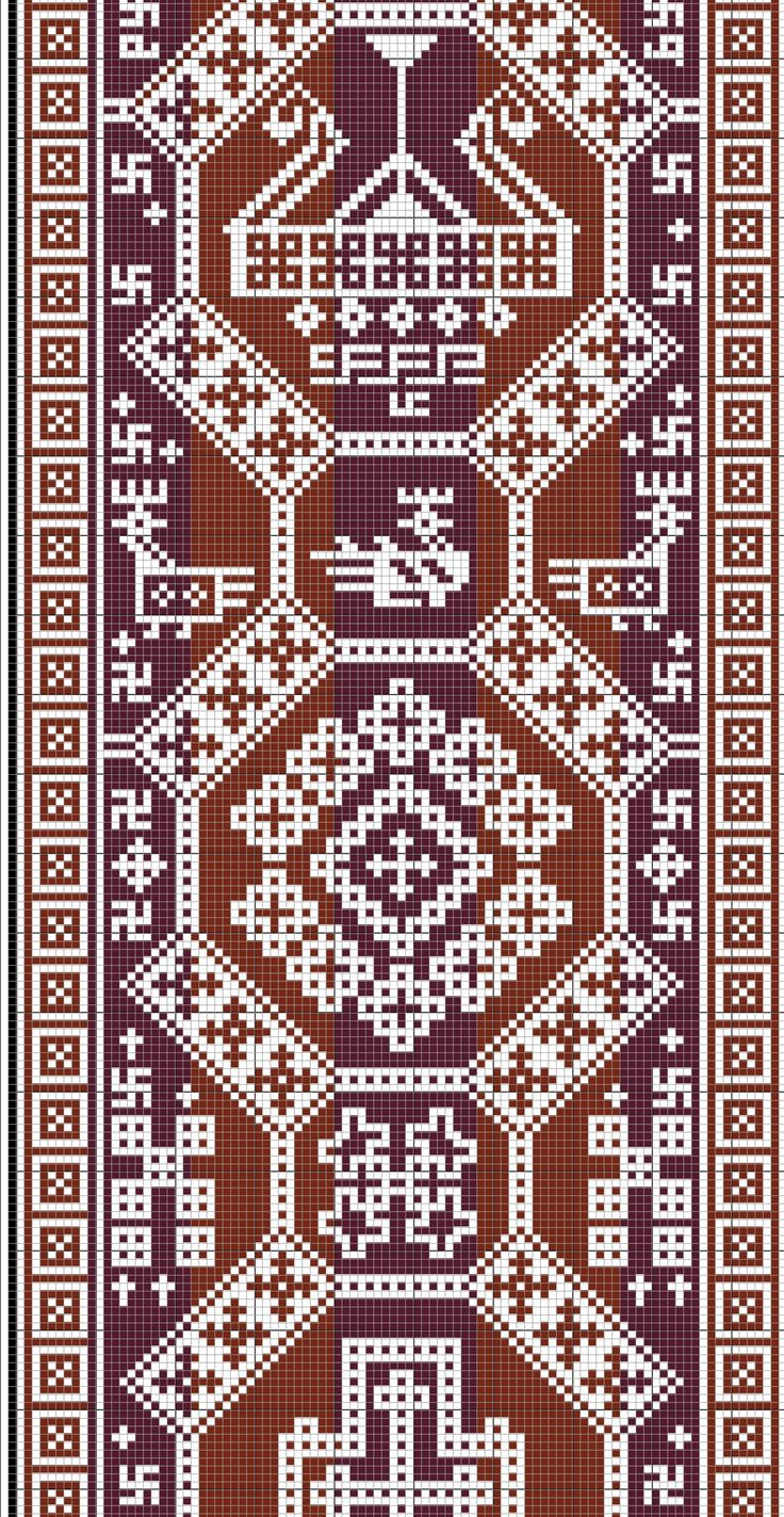 # 3. Overhogdal Tapestries (Sweden 800-1100). This would work great as needlepoint.