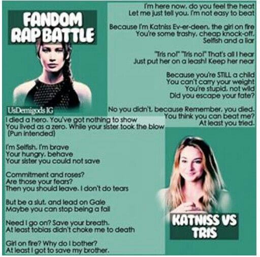 Fandom Rap Battle: Katniss vs Tris. Who won?