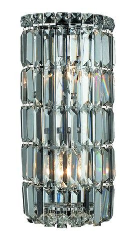 2030 Maxime Collection Wall Sconce W8in H16in E4in Lt:2 Chrome Finish (Elegant Cut. 2030 Maxime Collection Wall Sconce W8in H16in E4in Lt:2 Chrome Finish (Elegant Cut Crystals)  Watts: Lumens: Lamp Type: Shape: Style:Contemporary Light Bulbs:2 Bulb Type:E12 Bulb Wattage:40 Max Wattage:80 Voltage:110V-125V Finish:Chrome Crystal Trim:Elegant Cut Crystal Color:Crystal (Clear) Hanging Weight:9