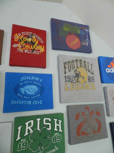 Display old t-shirts that have sentimental value.