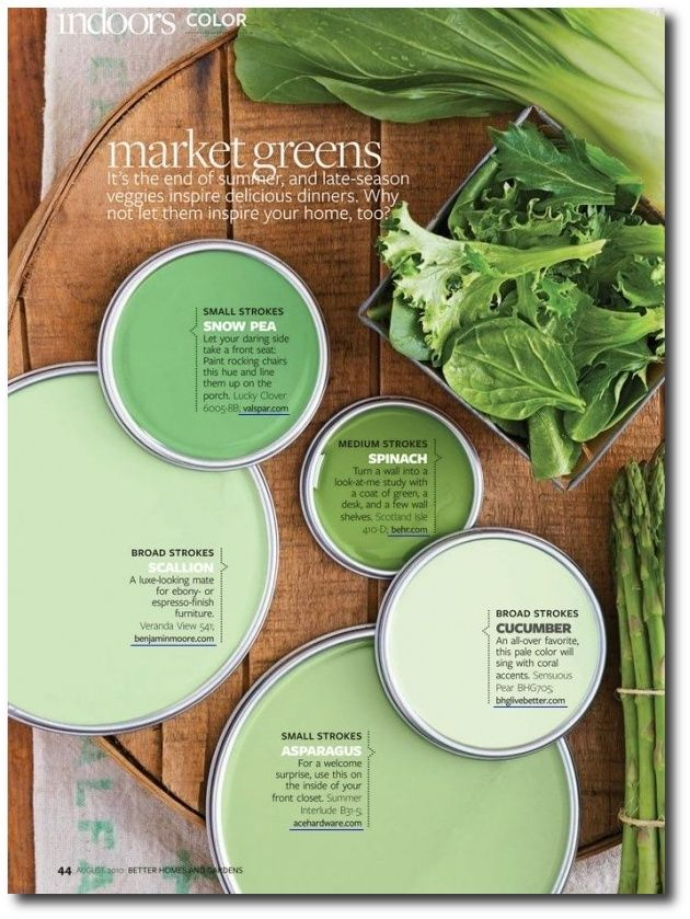 Market Greens Paint Colors From Better Homes Gardens