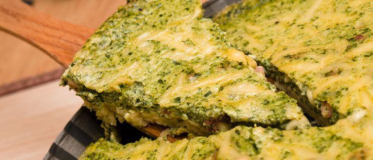 Torta rápida de espinafre - Lucilia Diniz