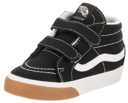 Vans Toddlers Sk8-Mid Reissue V (Gum Bumper) Black/True White Skate Shoe 9 Infants US