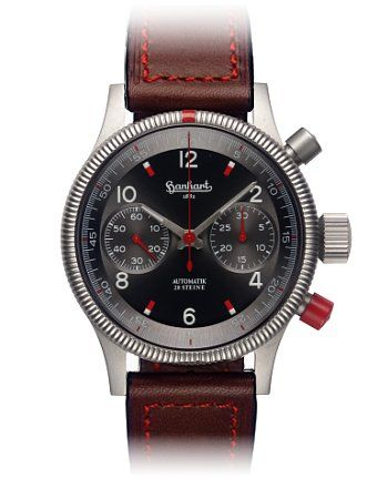 Hanhart USA | Hanhart Pioneer Red X Chronograph #hanhart German Swiss Watchmakers #horlogerie #chrono @calibrelondon
