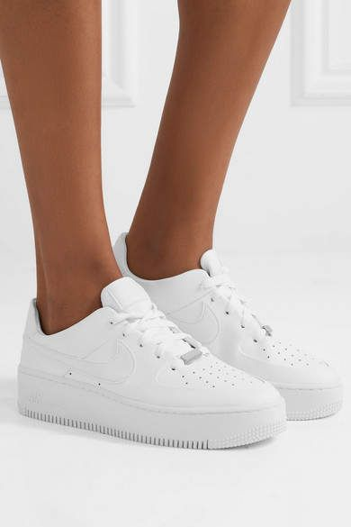 huge selection of e9e11 3ac03 Nike Air Force 1 Sage Textured-leather Sneakers - White  Force Sage Nike