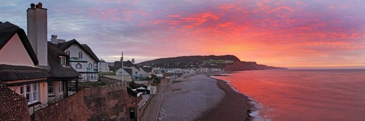 The picturesque town, landscape photography at sunrise