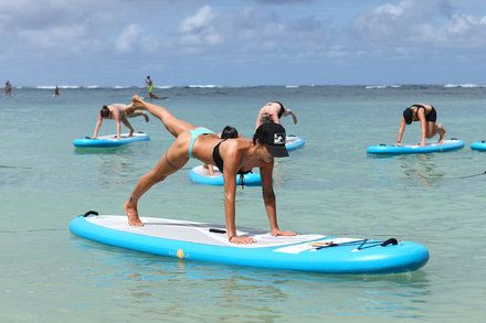 At Hawaii Resort Yoga by Day Party by Night