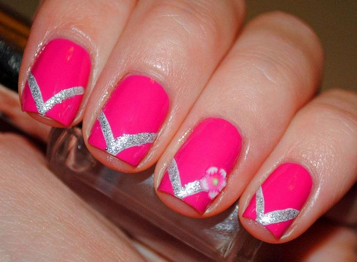 flip flop nails - cute could try different colors