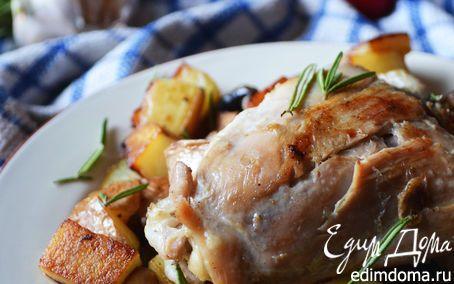 Куриное жаркое с грибами, картофелем и розмарином | Кулинарные рецепты от «Едим дома!»