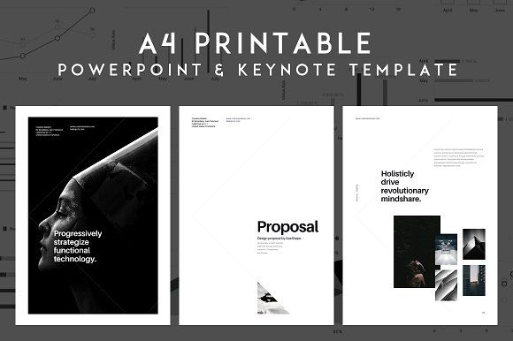 A4 Vertical PowerPoint Presentation by GoaShape on @creativemarket