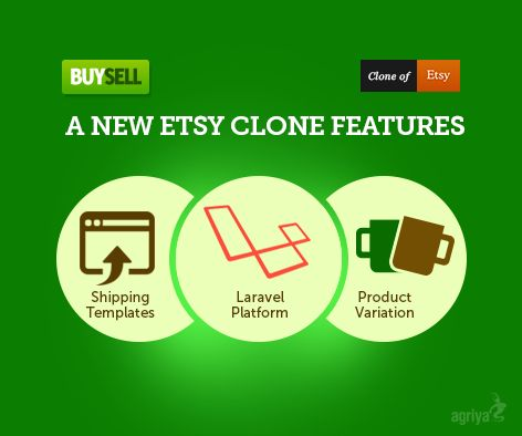 Agriya released its new and advanced #Etsy clone script with unbelievable price tag than before. It imparts cutting-edge features like shipping templates, #laravel platform etc.. To know more about new Buysell: http://www.agriya.com/products/etsy-clone