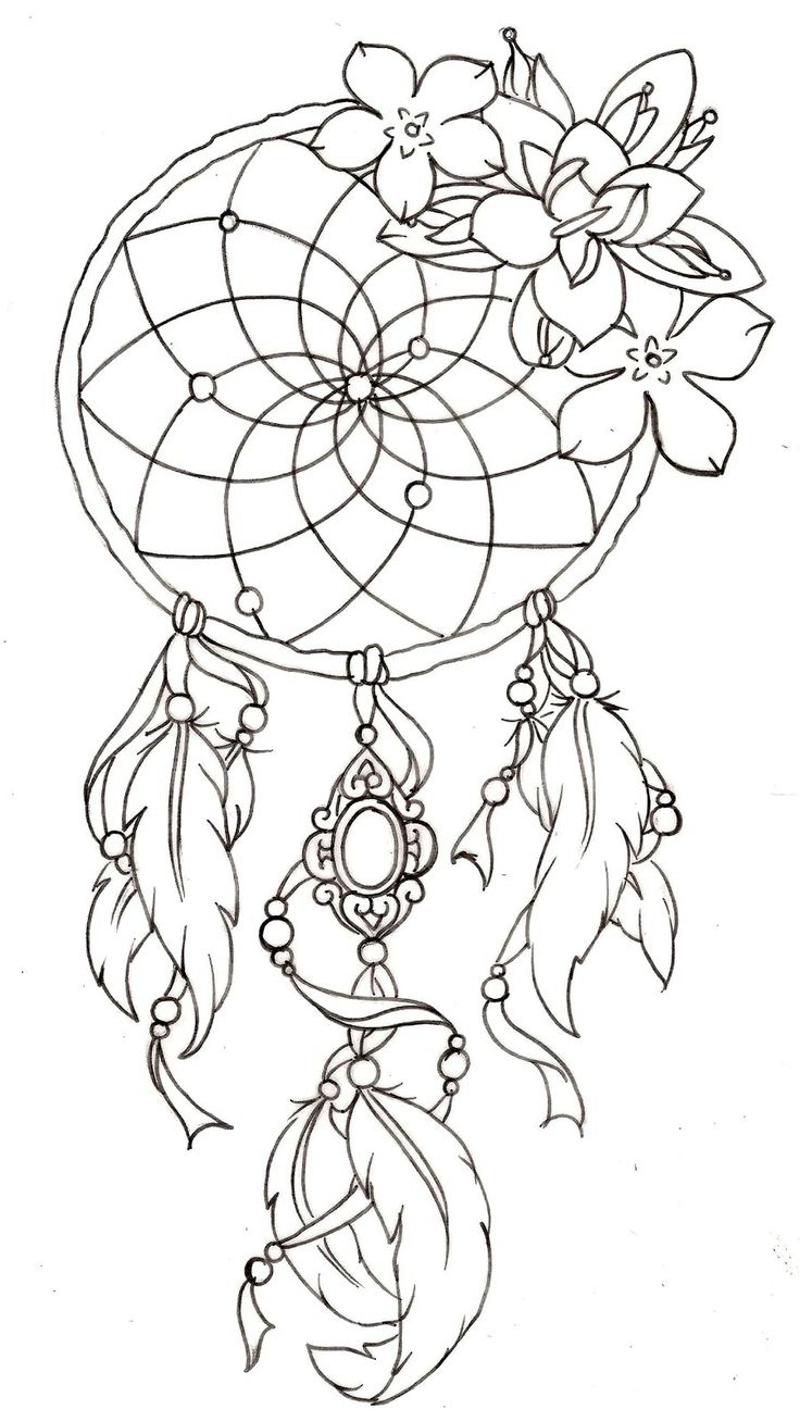 Drawing of a dreamcatcher