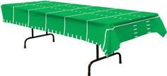 Add this Game Day Football Tablecloth to you football themed party to make it a huge success. The tablecloth looks just like a football field with yard markings. Made of quality plastic, this tableclo