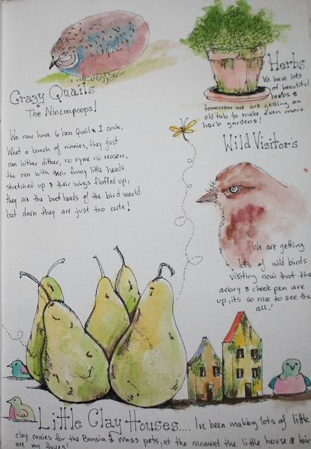 Garden journal clay houses page | Flickr - Photo Sharing!
