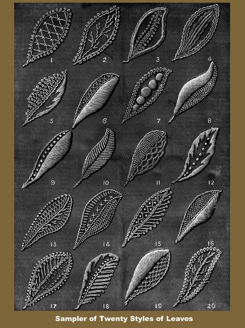 Iva Rose reproducciones del vintage - Weldon 2D # 69 c.1890 - Práctica Mountmellick bordado (cuarta serie)