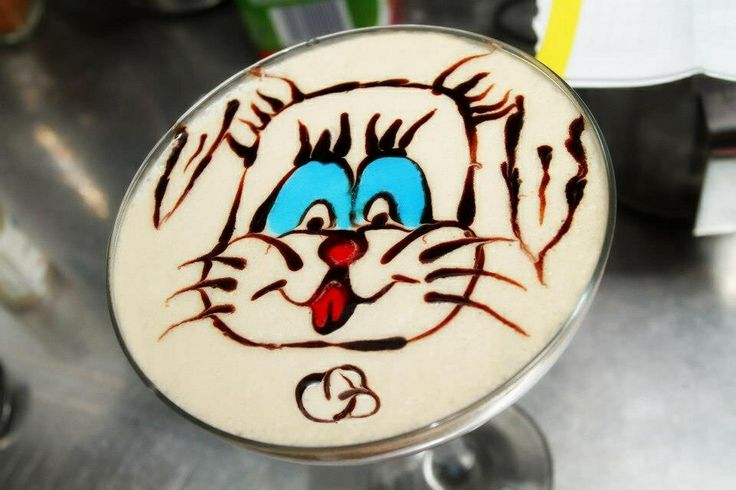 Latte art doggy