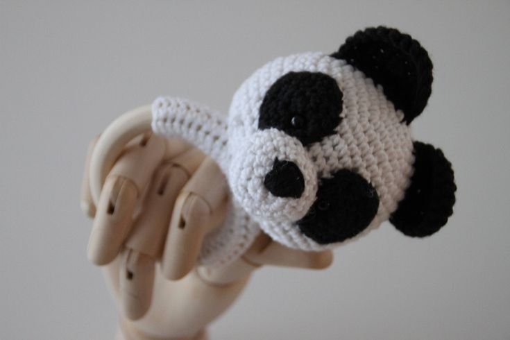 My new little friend has come to the #etsy shop: Panda rattle and teething ring http://etsy.me/2Cpjh6H #toys #children #white #babyshower #christmas #black #babyrattle #babyteethingring #teethingring #pandarattle #pandateethingring #woodteethingring