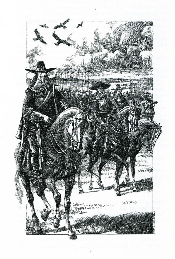 Король Чарльз.  The Three Musketeers, Twenty Years After, Illustrated by Roman Pisarev.