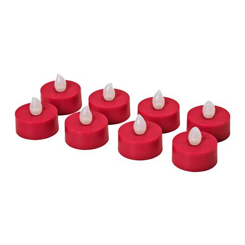 IKEA - STRÅLA, LED tealight, The LED candle gives a cosy flickering light like a real candle. It is a safe alternative for homes with children, and can be used as a decorative light anywhere without the risk of fire.The LED light source consumes up to 85% less energy and lasts 20 times longer than incandescent bulbs.