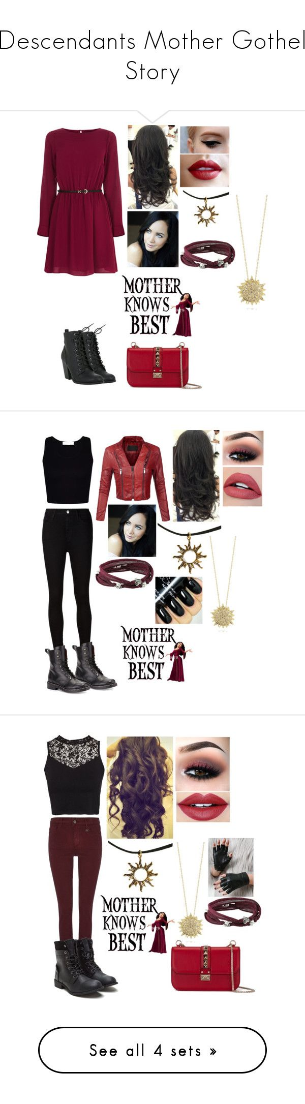 """""""Descendants Mother Gothel Story"""" by animegirl694 ❤ liked on Polyvore featuring Oasis, Hot Topic, King Baby Studio, Roberto Coin, Disney, Valentino, AG Adriano Goldschmied, rag & bone, True Religion and NLY Trend"""