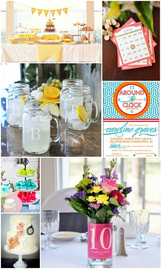 24 curated bridal shower ideas by lauralczarka bridal for Around the clock bridal shower decoration ideas
