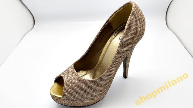 Czółenka peep toe szpilka 6771-P Gold rozm36-41  http://allegro.pl/czolenka-peep-toe-szpilka-6771-p-gold-rozm36-41-i3455856602.html