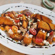 Geroosterde zoete aardappelen met Geitenkaas – |