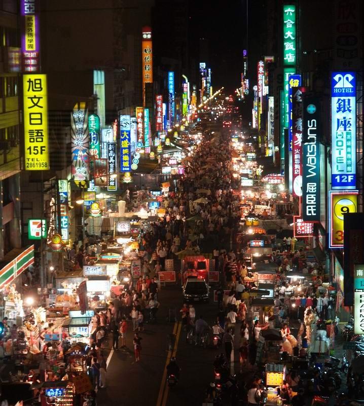 Liuhe Night Market in Kaohsiung, Taiwan