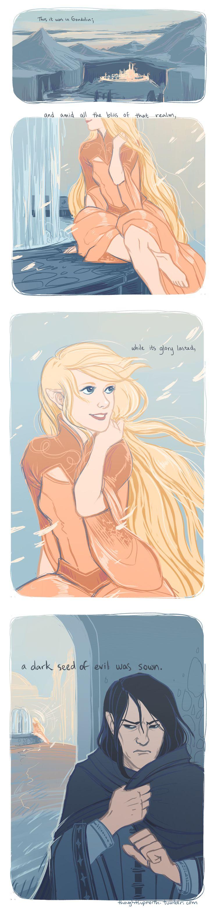 The Doom of Gondolin by Rekyrem.deviantart.com on @deviantART<<<EEEE It's so good!  Soooo perfect!