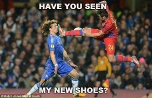 Excellent bit of football banter. I've think he has definitely seen his new shoes.  Love this funny meme.