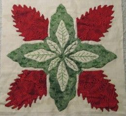 Teuila flower quilt square, Hawaiian style 2008.