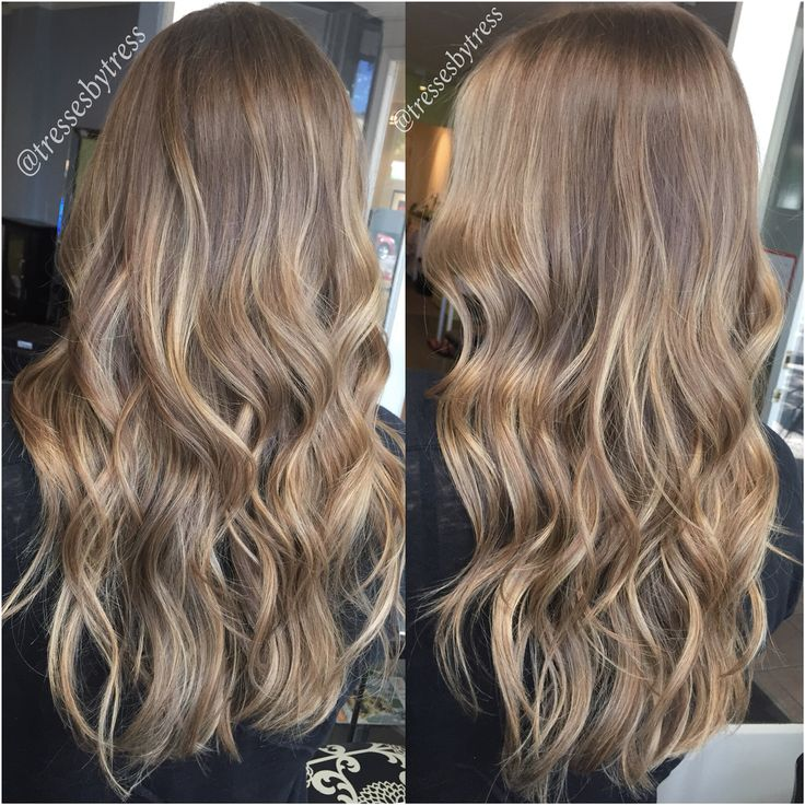 Natural Soft Blonde Balayaged Highlights Ombre Balayage