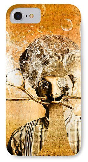 Steampunk IPhone 7 Case featuring the photograph The Mind Machine by Jorgo Photography - Wall Art Gallery