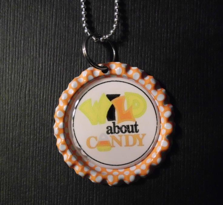 Halloween Bottle Cap Charm Necklace 1