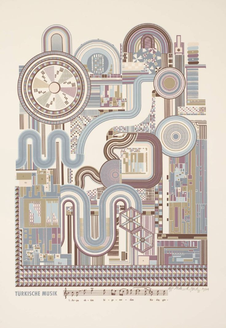 "Eduardo Paolozzi_'Turkish Music' (From Kottbusserdam Pictures and Turkish Music) 1974  © The Eduardo Paolozzi Foundation  ""From Kottbusserdam Pictures and Turkish Music"""