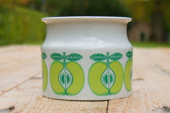 Arabia Finland jampot met groene appels