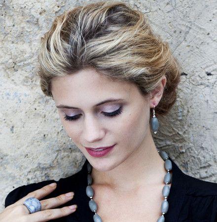 'Soho' Resin Ring (Grey Swirl) - Polka Luka Resin Jewellery - Smooth Organic feel ring  Material: Resin   Size: Q 1/2 Medium(Aus sizing) 8 1/2 (US Sizing)