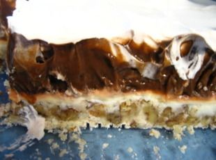 Four Layer Delight.  Every time I make this, it totally disappears.  Best. Dessert. Ever.