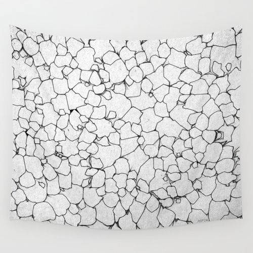 Black And White Lines Wall Tapestry