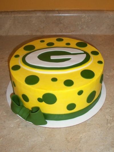 Greenbay Packers Cake By cakesbykayla on CakeCentral.com    would be cool to do a cheesehead shaped groom's cake! :0)